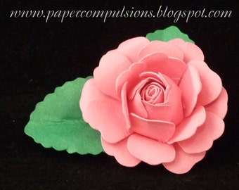 SVG Cut Files, PDF Templates, and Instructional video for making handmade paper roses