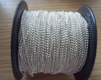 1000 ft  2.4mm silver ball chain spool with 500 FREE connectors