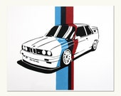 Classic Car Print - BMW E30 M3 (M Colors)