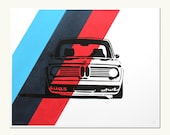 Classic Car Print - BMW 2002 Turbo - M Colors