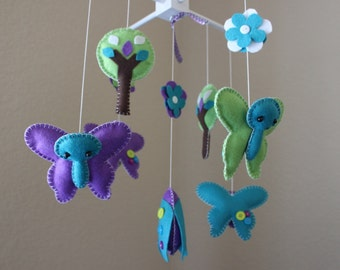 """Baby Crib Mobile - Baby Mobile - Butterfly Mobile - Baby Nursery Mobile - """"Fluttler Butterflies""""(You can pick your colors)"""