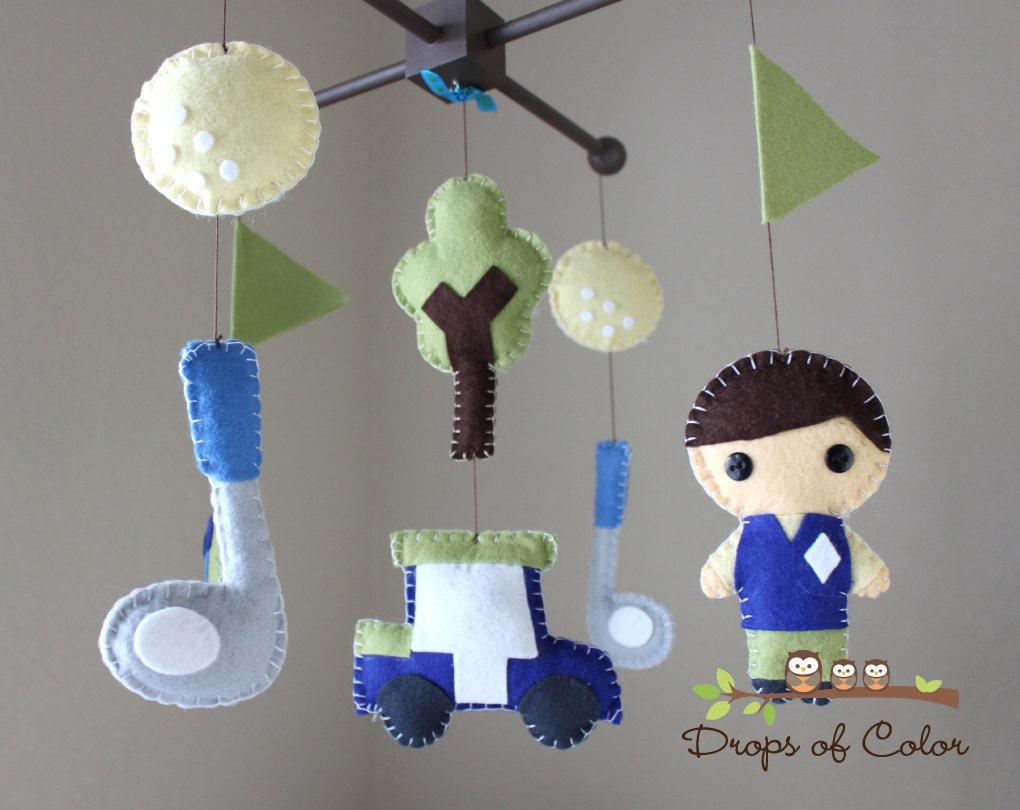 Baby Crib Mobile Baby Mobile Golf Mobile Baby Boy Mobile