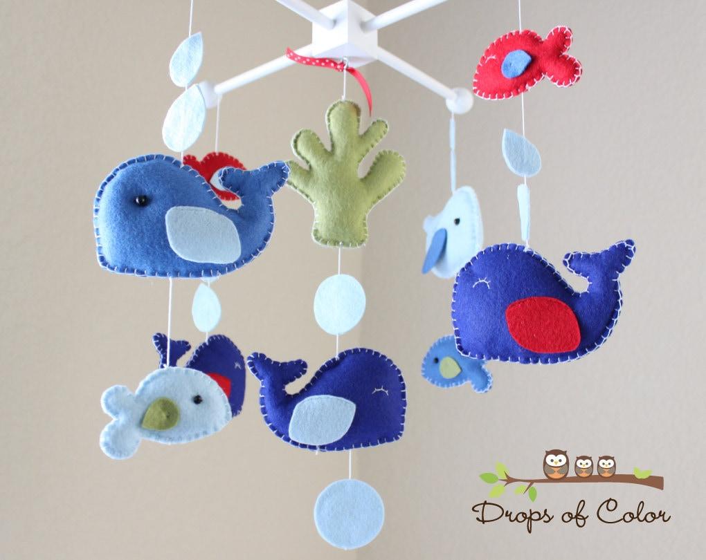 Baby Mobile Baby Crib Mobile Jackson Whale Nursery Mobile