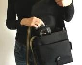 Aibo Camera Bag - water-repellent durable canvas & 5 exterior colors - Black