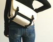 Medium DSLR Messenger Camera Bag - water-repellent durable canvas & 5 exterior colors - White