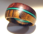 Tapered Wooden Ring - Bubinga and Bocote with Stained Wood