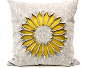 Cushion Indian Rose. Pure Grey light - Okra