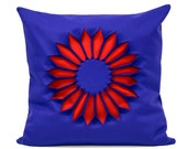 Cushion Indian Rose. Blue - Red