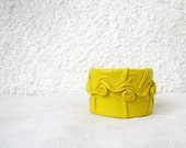 Yellow Leather Cuff