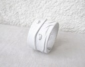 Snow White Leather Cuff