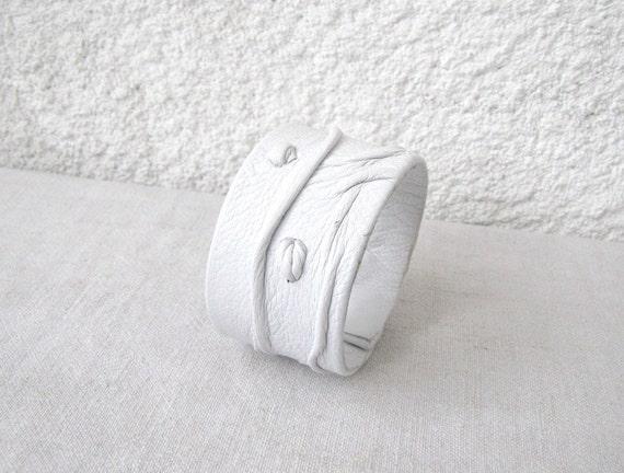 Snow White Leather Cuff