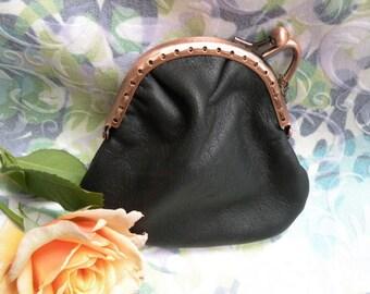 purse black leather