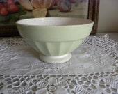 A french vintage Digoin coffe bol, bowl. Light green.