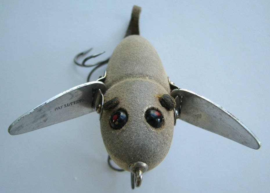 1940 heddon musky crazy crawler mouse fishing lure for Mouse fishing lure