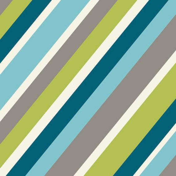 NOW 30% OFF: Mod Squad Stripe by Dan Stiles for Birch Organics, grass, organic cotton, 1/2 yard