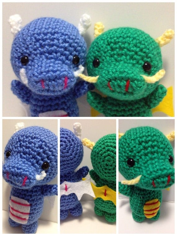 Items similar to Kawaii Amigurumi Dragon PDF Crochet ...