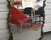 Large Gold Decorative Mirror