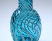 Mini Vase - aquamarine & white stripe : DISASTER RELIEF
