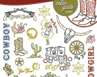 Wild Wild West Embroidery Pattern