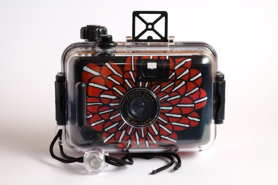 Hand-Painted Underwater 35mm Camera