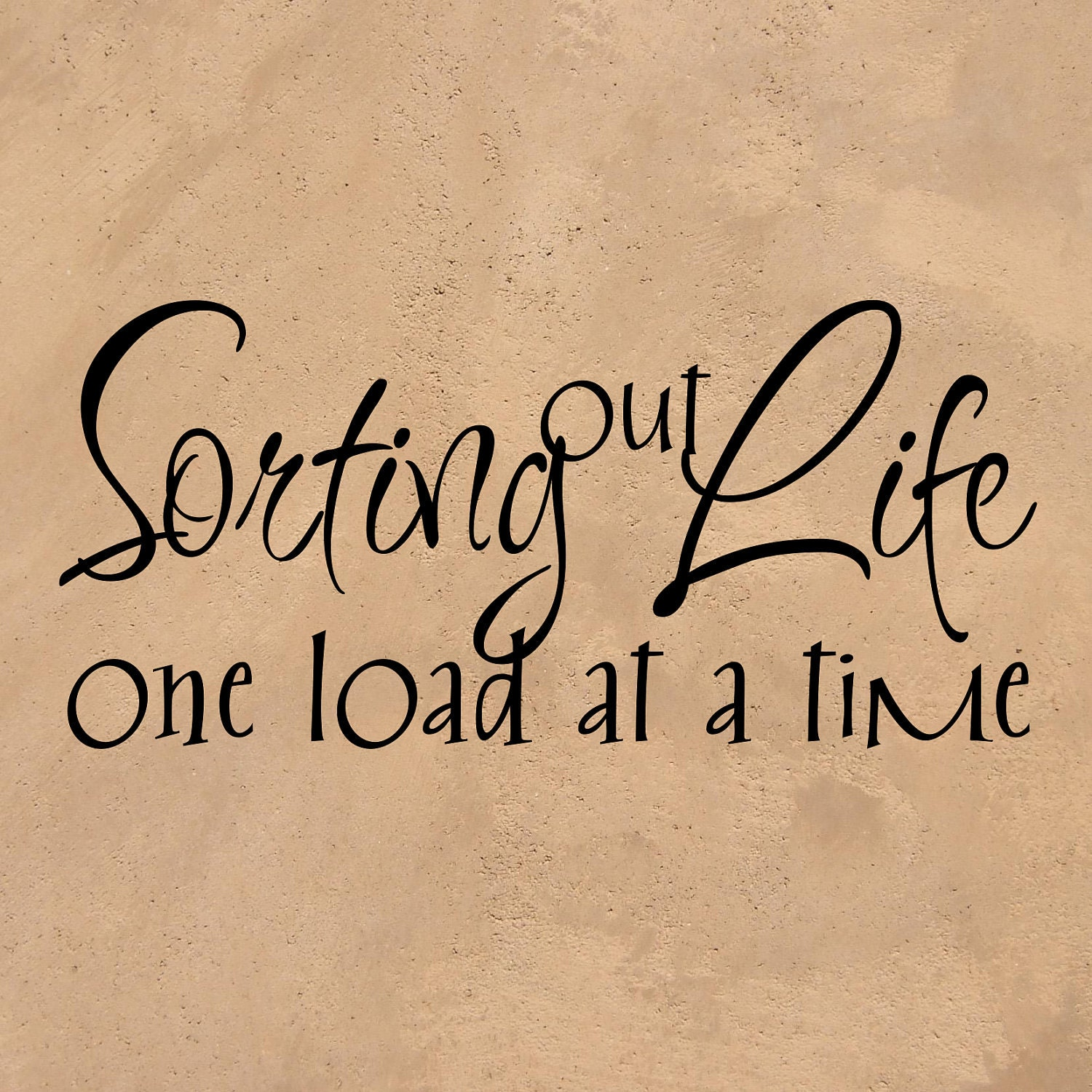 sale discount vinyl wall sticker sorting out life one