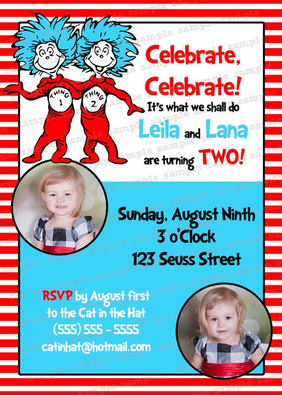 First Birthday Invitations For Twins for amazing invitation design
