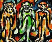 "Jacqueline Ditt - ""Three Monkeys"" ARTcard"