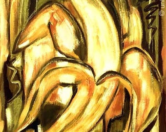 """Jacqueline Ditt - """"Banana Pure"""" after a painting"""
