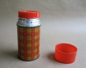 Red, Black and Yellow Plaid Aladdin Thermos