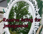 """Reserve  listing for jmhagewood.....Sale..Was 75.00..Now 60.00...Large Vintage Mirror Oval Basket with Flowers Lattice Design  28"""""""