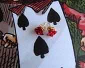 Alice In Wonderland Painting the Roses Red Earrings