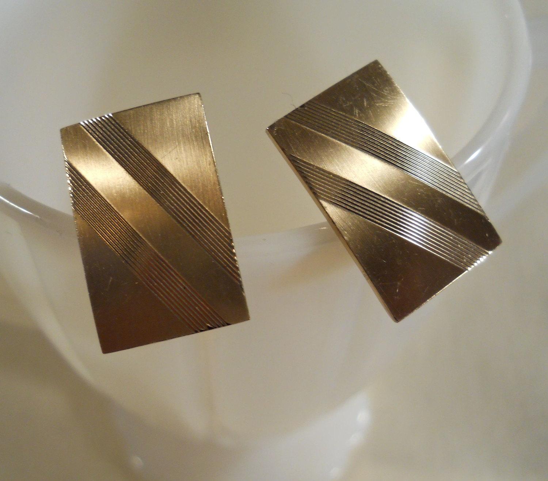 Swank Gold Filled Mid Century Modern Cufflinks