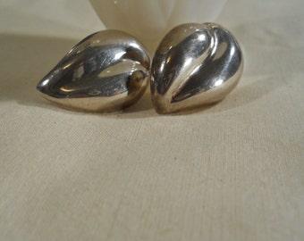 Taxco Mexico Sterling Silver Modern Earrings
