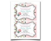 Shabby Chic Baby Shower Invitations
