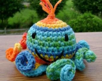 Mia the Octopus an Amigurumi Crocheted StuffedToy