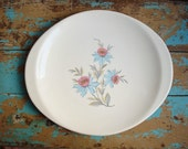Vintage Steubenville Fairlane Platter - Pink Blue Flowers - Retro Dinnerware