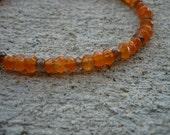 Faceted Carnelian Leaf Bracelet