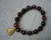 Colorful Agate Buddha Bracelet