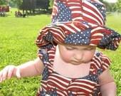 American Flag Sun Hat