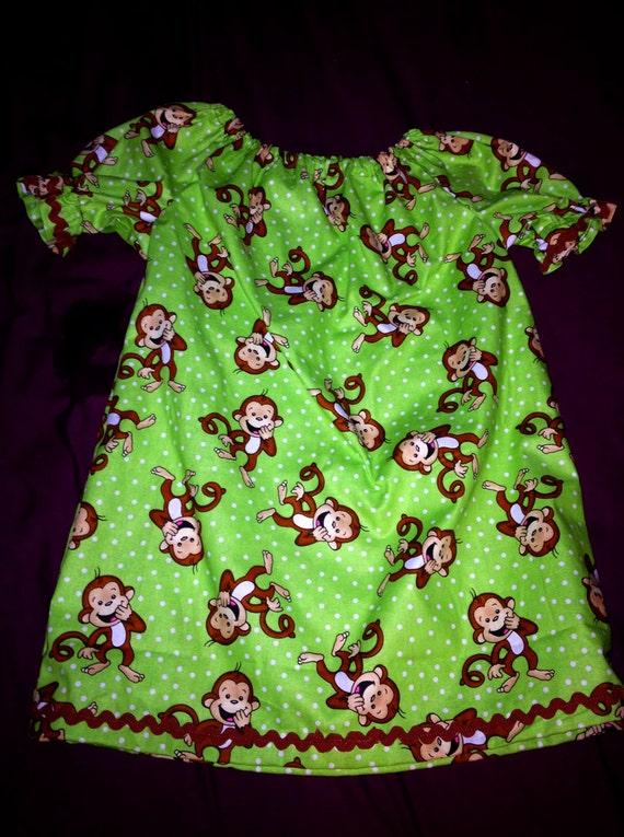 Happy Monkeys Peasant Dress