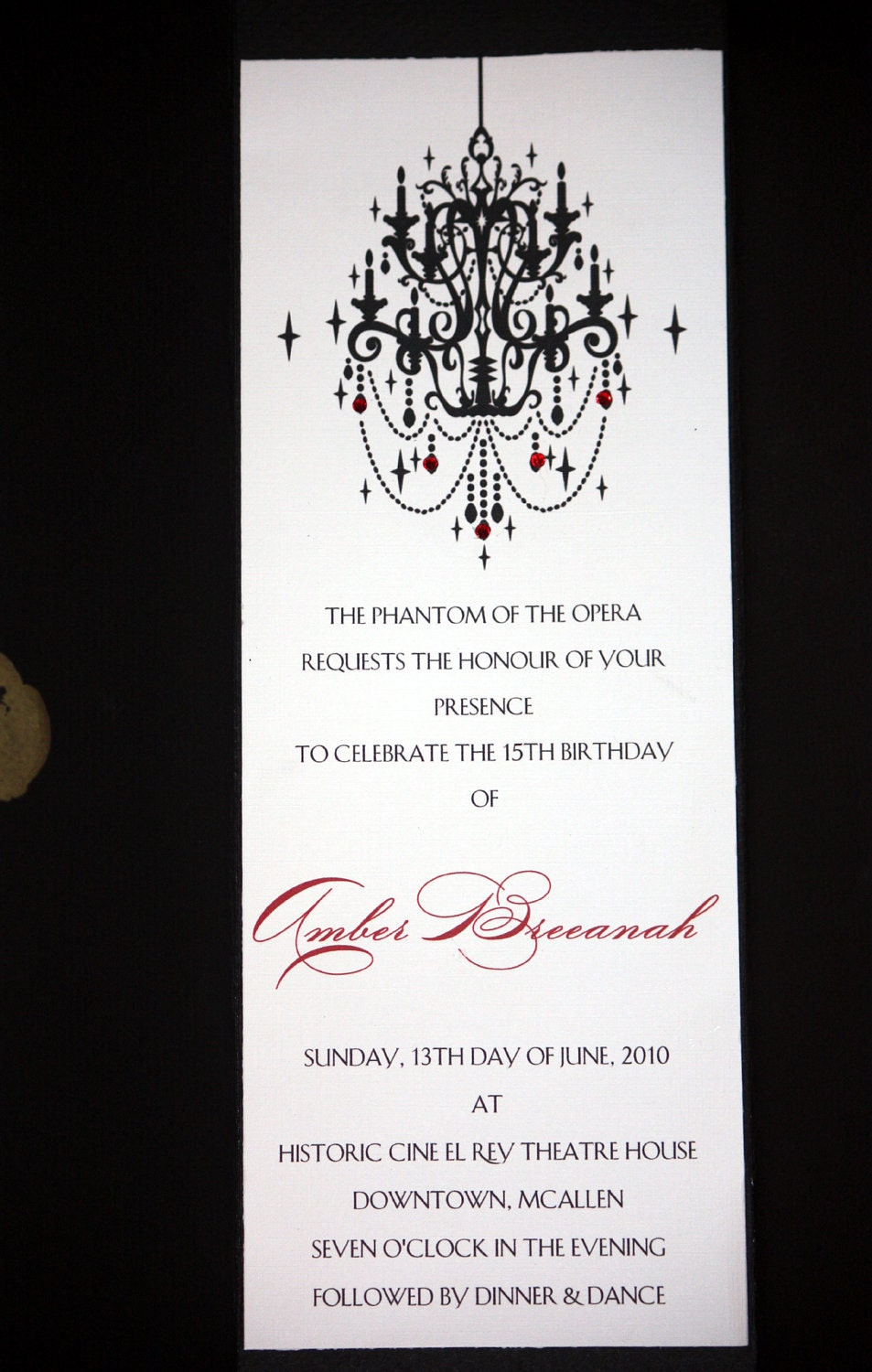 Phantom of the Opera Invitations