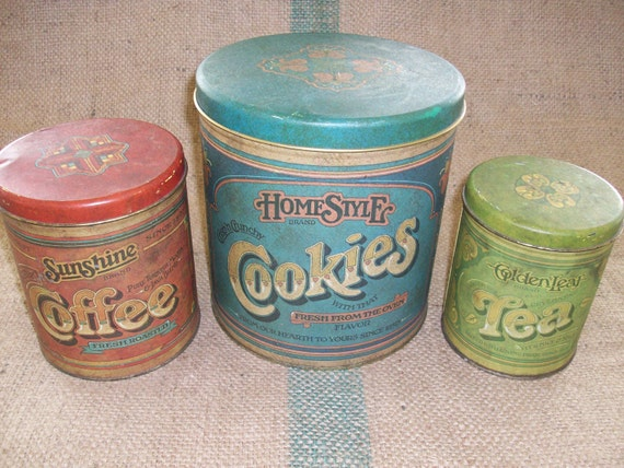 Vintage Kitchen Tin Set
