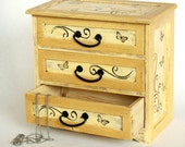 Decorative jewelry wooden box,  Treasury Box, Jewelry box, Rustic box