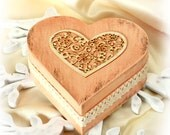 "Vintage Ring Bearer Box  , Wedding box, Treasury  Box ,  Jewelry box , distressed box , vintage   -  Dimensions : 5"" /5 / 2"""