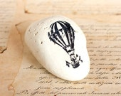 Painted Stone Baloon, Black Sea Cost White Stone