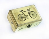 Vintage Bycycle Wooden Distressed Box
