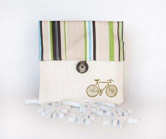 Handmade pouch - damask print