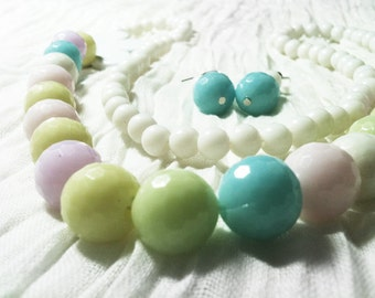 Pastel Necklace and Earrings