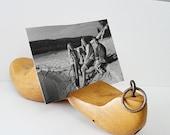 Vintage Industrial Shoe Form Photo Holder