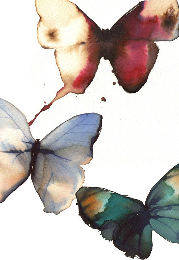 butterfly postcards from original watercolour paintings